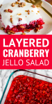 layered cranberry jello salad recipe with cream cheese topping