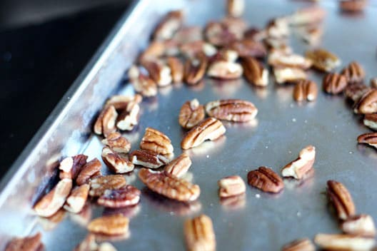 Toasted Pecans In A Bowl
