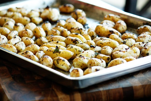 Roasted Parsley and Garlic Fingerling Potatoes