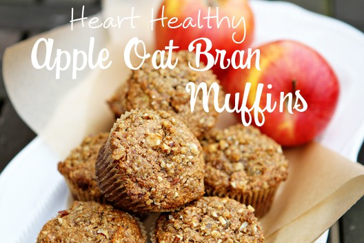 Heart Healthy Apple Oat Bran Muffins | Stay at Home Mum