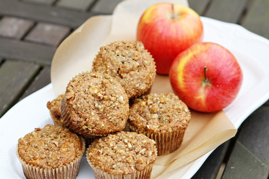Heart Healthy Apple Oat Bran Muffins