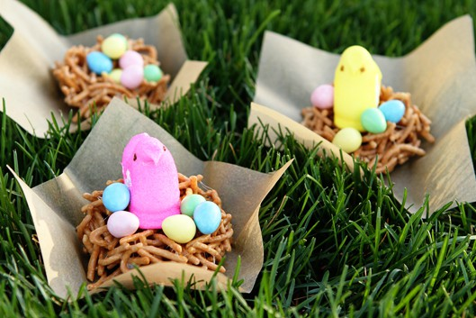 Easy Easter Peeps Edible Bird Nests