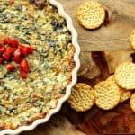 Lightened Up Spinach Artichoke Dip {Olive Garden Copycat}