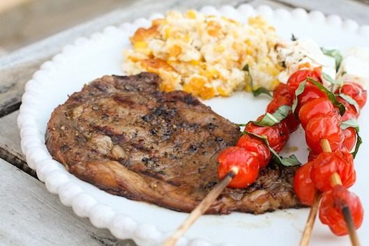Coffee-Marinated Rib Eye Steak