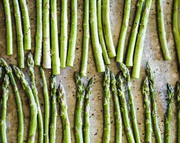 Easy 3-Ingredient Roasted Sesame Asparagus | Simple Side Dish