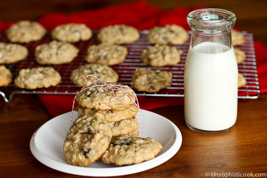 Cherry Toasted Almond Oatmeal Cookies