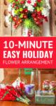 holiday flowers arrangement diy