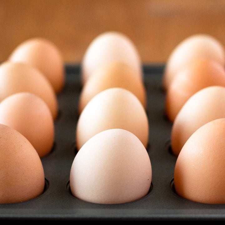 hard baked eggs are the easy way to make hard boiled eggs in the oven