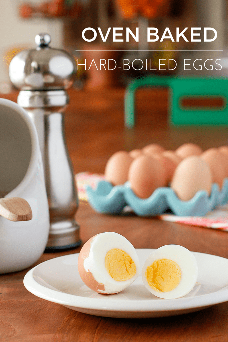 Oven Baked Hard Boiled Eggs -- seriously the BEST method for perfectly cooked hard boiled eggs that are easy to peel every time. Makes big batches super simple! | via @unsophisticook on unsophisticook.com