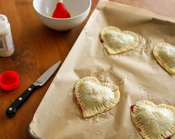 Cherry Hand Pies for Valentine's Day
