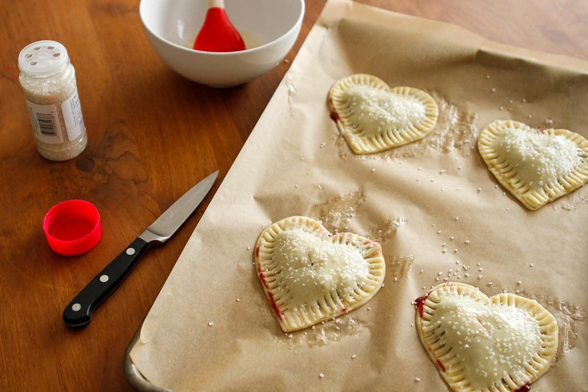 Egg Wash Cherry Hand Pies
