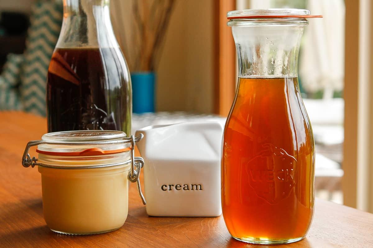 Sweetening Homemade Iced Coffee