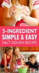 3-ingredient salt dough recipe tutorial