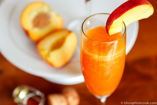Frozen Peach Bellinis