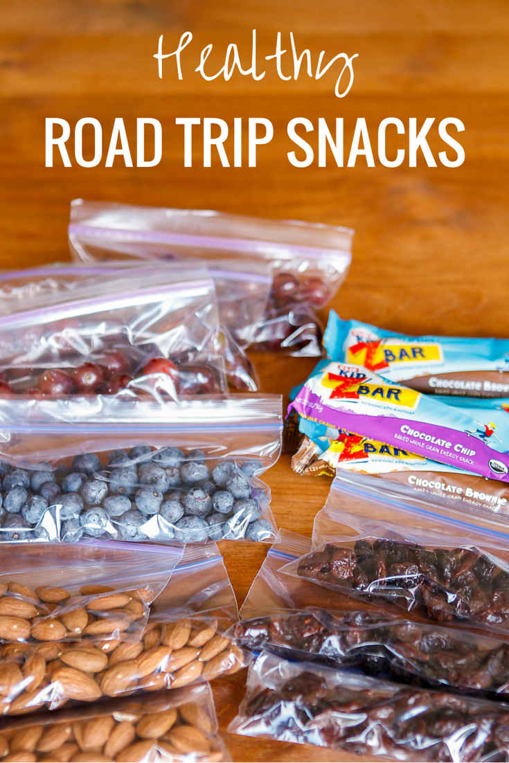 Healthy Road Trip Snacks -- pack these 9 budget-friendly, simple, and healthy road trip snacks for your next family vacation! | via @unsophisticook on unsophisticook.com