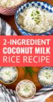 easy coconut milk rice in a bowl