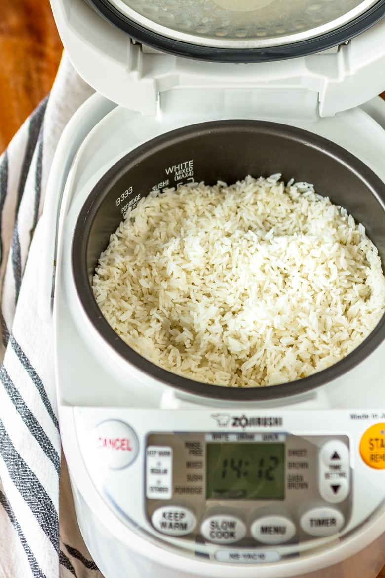 coconut milk rice recipe made in a rice cooker