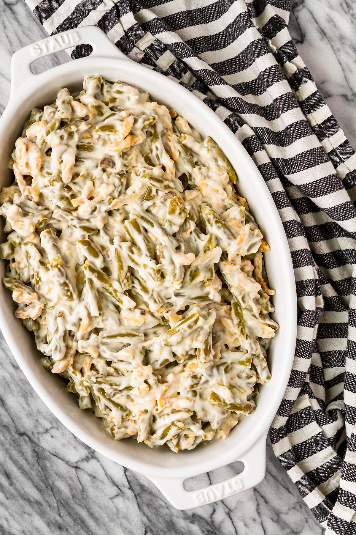 how to make green bean casserole with just three ingredients