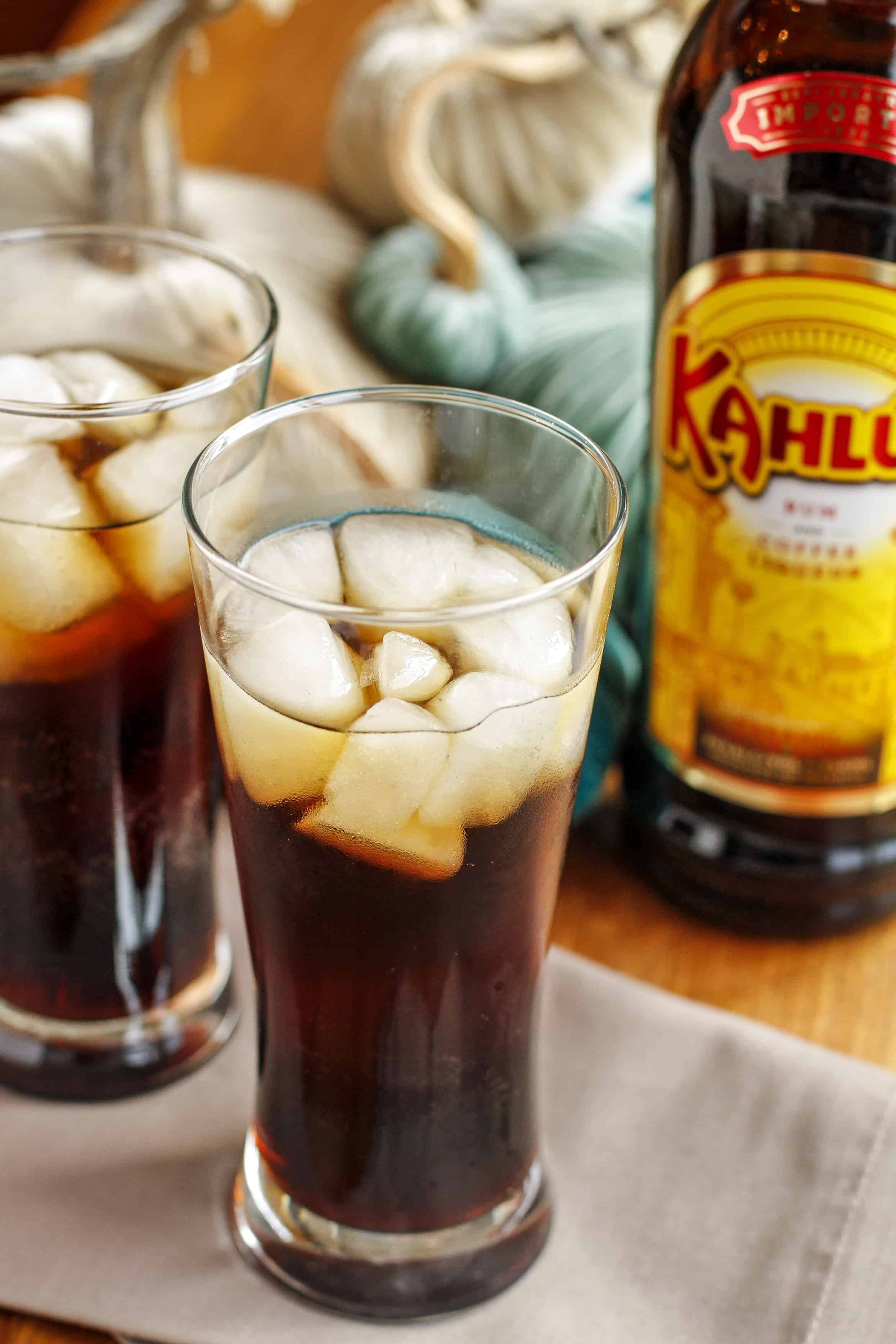 Kahlua and Club Soda