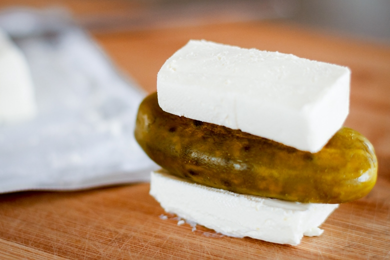 dill pickle roll ups dill pickle sandwiched between two slices of cream cheese