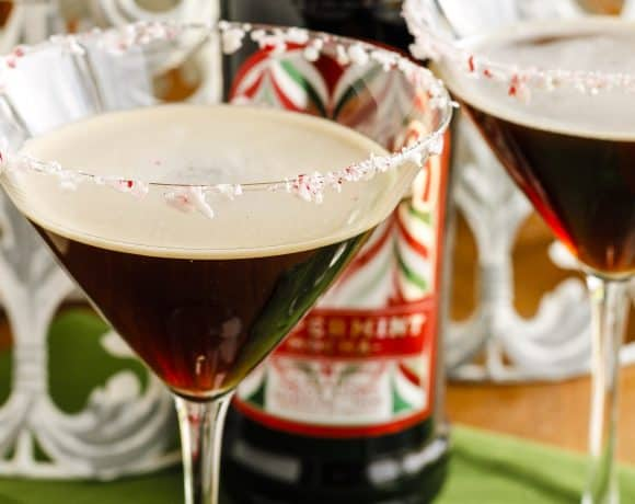 Holiday Kahlúa Peppermint Espresso Martini