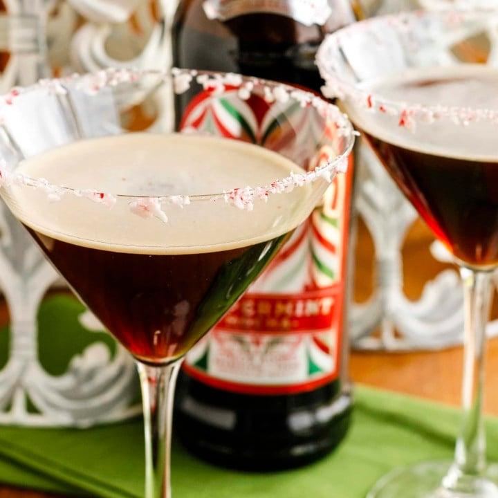 Holiday Kahlúa Peppermint Espresso Martini