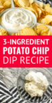 chip dip made with just 3 ingredients
