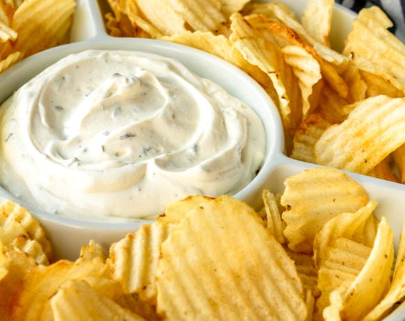 3-Ingredient Potato Chip Dip Recipe | Chips and Dip