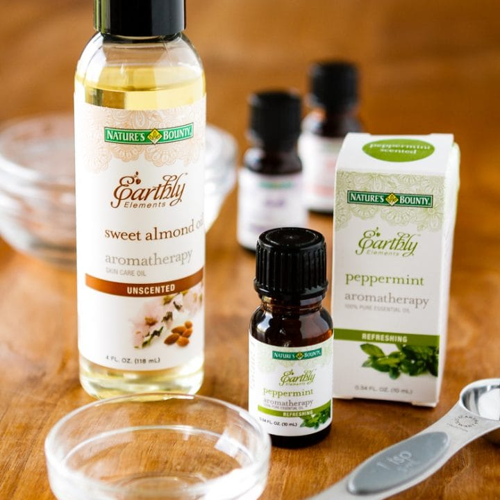 homemade massage oil with essential oils