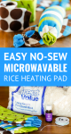 no-sew microwavable heating pad tutorial