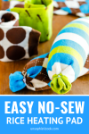 easy no-sew rice heating pad tutorial