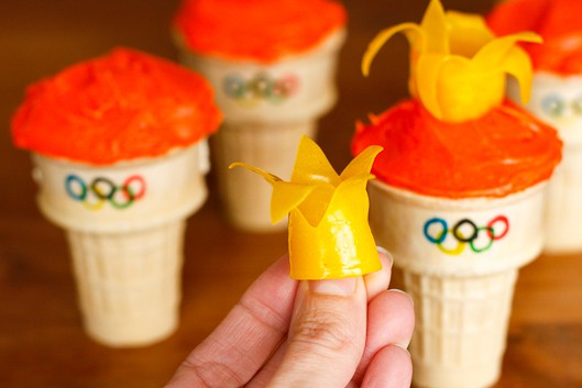 Olympic Torch Fruit Roll-Up Flames