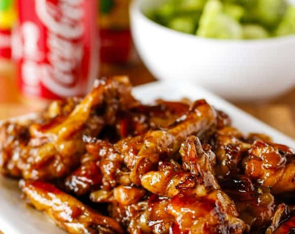 Crispy Coca-Cola Oven Baked Chicken Wings For The Win!