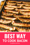 best way to cook bacon on a baking sheet lined with a cooling rack