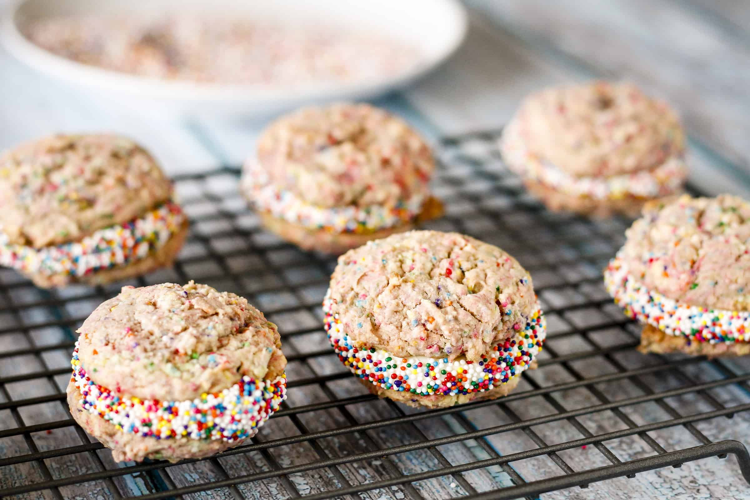Funfetti Birthday Cake Cookie Sandwiches Unsophisticook