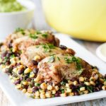 One Pot Cilantro Lime Chicken With Corn And Black Beans