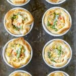 mini chicken pot pies baked in ramekins