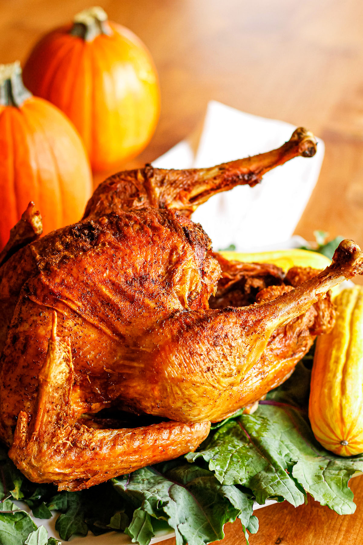 fried turkey recipe made with fried turkey rub + peanut oil