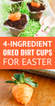 easter dirt cups made with snack size chocolate pudding cups