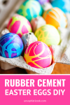 rubber cement easter eggs diy with diy easter egg dye