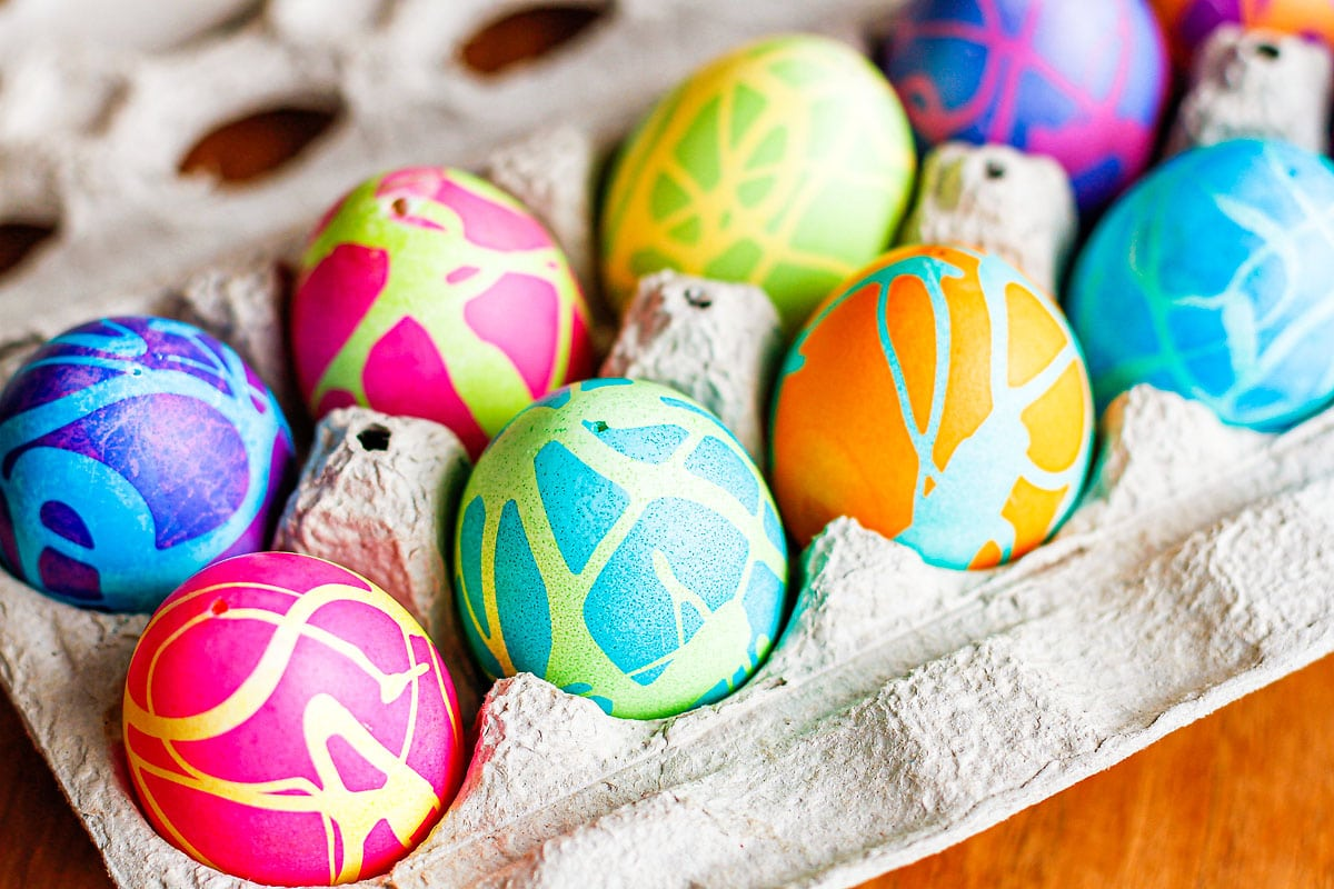 how to color easter eggs with bright homemade dyes