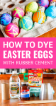 how to dye easter eggs with rubber cement and diy easter egg dye