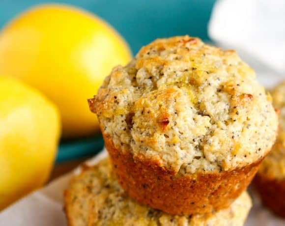 Sunshine-y Lemon Poppy Seed Muffins