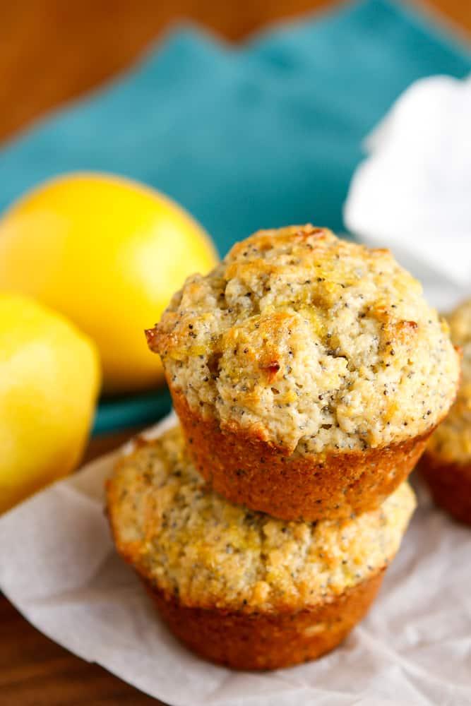 Sunshine-y Lemon Poppy Seed Muffins ~ Unsophisticook