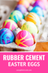 rubber cement easter egg dyeing technique