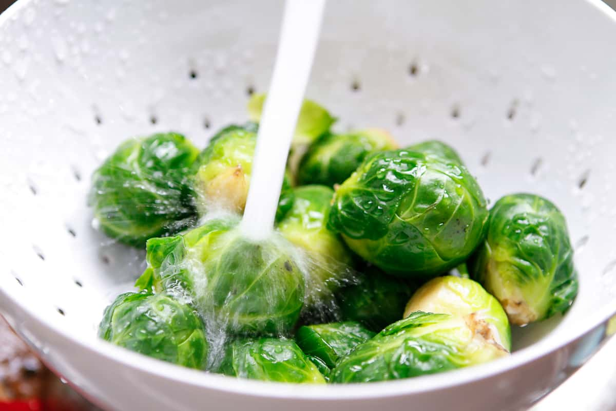 Grilled Brussels Sprouts   Rinse Cold Water