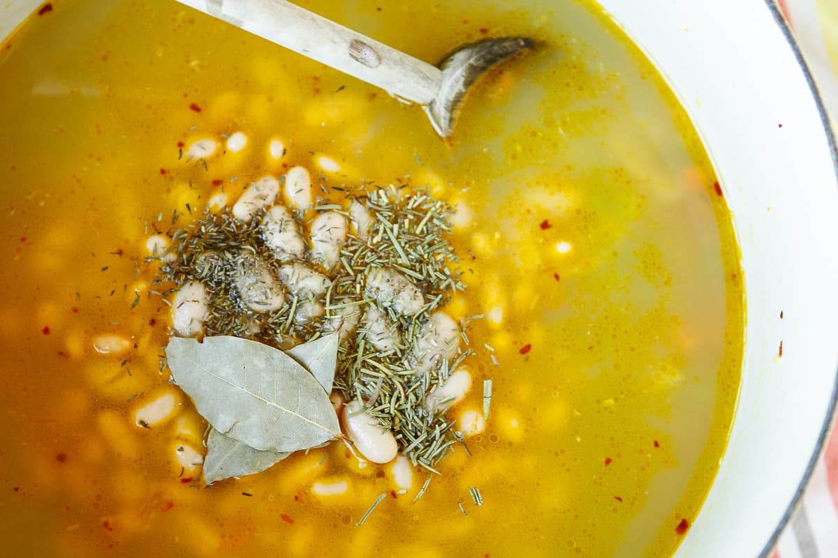 White Bean Soup | 30-Minute Creamy Tuscan Bean Soup