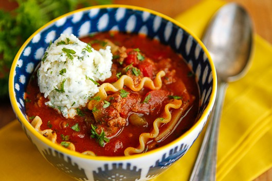 Weeknight Lasagna Soup Recipe