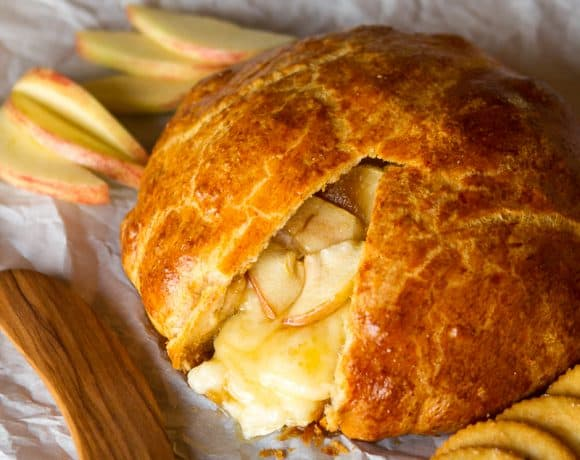 Baked Brie Appetizer | Warm Crescent-Wrapped Apple Brie