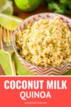 coconut milk quinoa easy recipe